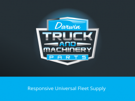 Darwin Truck and Machinery Parts logo design