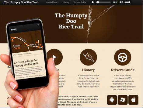 Humpty Rice Trail - app and website!